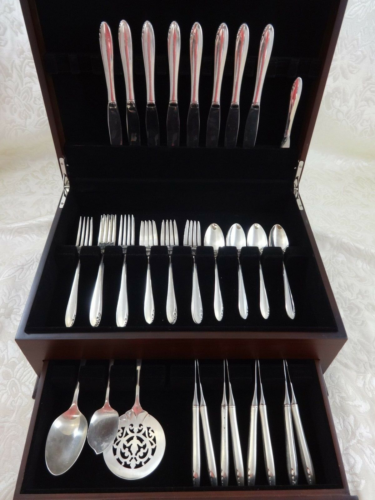 Primary image for Lasting Spring by Oneida Sterling Silver Flatware Set For 8 Service 44 Pieces