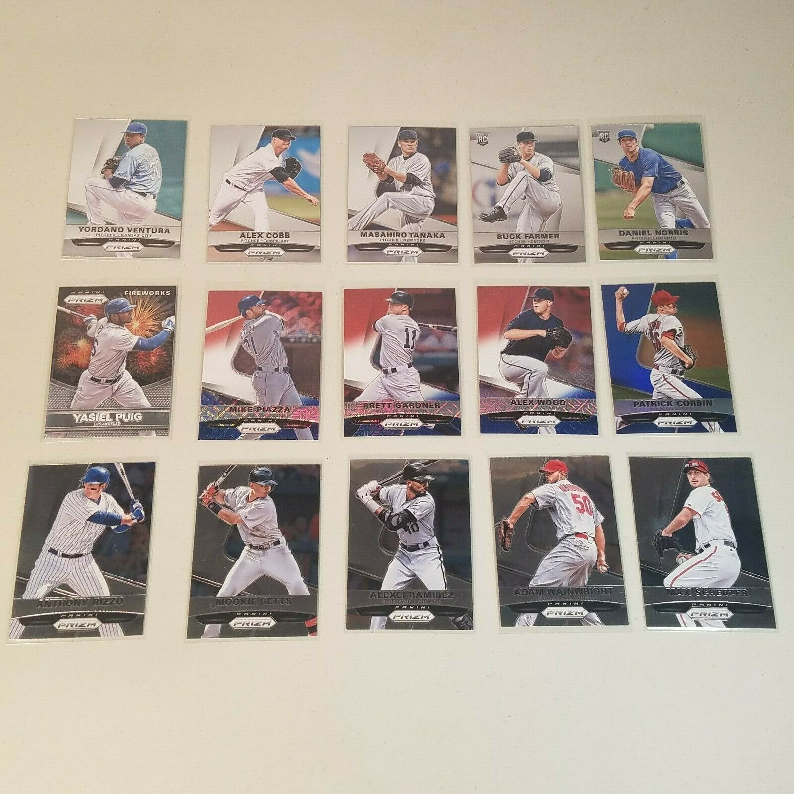2015 Panini Prizm Red/White/Blue Mojo, Parallels, RC's 15 Baseball Cards Lot - $19.99