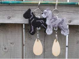 Standard Schnauzer dog crate tag or hang anywhere, hand stitched, color ... - $17.00