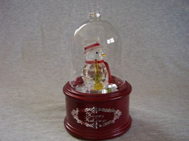 Mr Christmas Deluxe Dome Lighted Musical Snowman Ornament Table or Hanging - $38.00