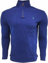 Polo Ralph Lauren Men's Half Zip French Rib Cotton Sweater BLUE S M L X... - $94.99