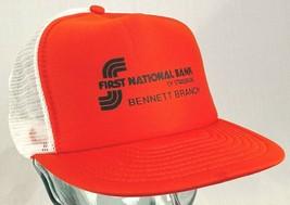 FIRST NATIONAL BANK of Strasburg Bennett Branch Hat-Orange-Mesh-Snapback... - $14.95