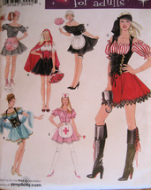 Simplicity 3618 Womens 6 to 12 Pirate Nurse Red Riding Hood - $8.95