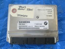 2003 BMW 330i engine computer ecu 7 509 942 Siemens 5WK90008 OEM ECM PCM 3.0 - $99.99