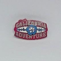 """Disney Pin Trading """"Disney's California Adventure"""" w/3D Hibiscus Flower Est. '01 - $7.09"""
