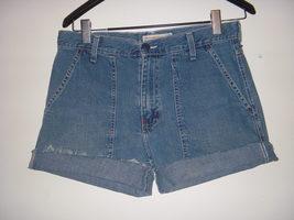 """Abercrombie & Fitch Vintage 90's Flap Pocket Trouser denim Jean shorts 8 32""""  - $9.99"""