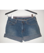 Abercrombie & Fitch 1892 button fly dark denim distressed Jean shorts 4 ... - $9.99