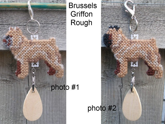 Brussels Griffon Rough dog crate tag or hang anywhere, handmade, color options