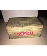 NEW VINTAGE COLLECTIBLE DORAL CIGARETTE TIN WITH SEALED WOODEN MATCHES 1996 - $13.86