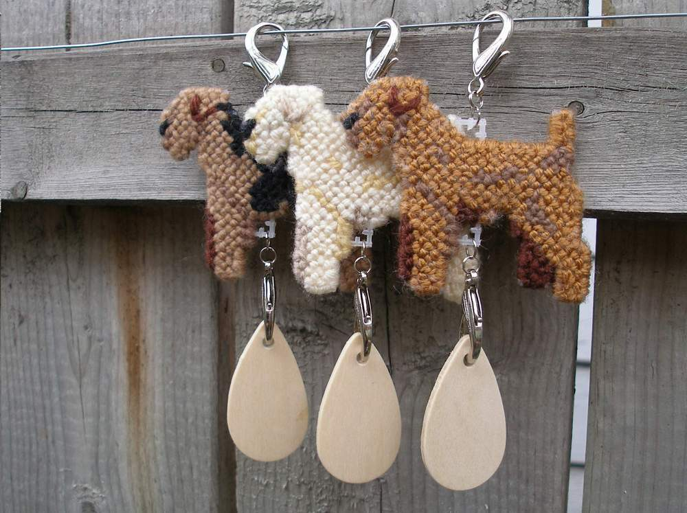 Lakeland Terrier dog crate tag or hang it anywhere, hand stitched, color options