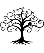 "Love Bird Swirled Tree of Life 24"" tall Black Metal Wall Art Decor by HGMW - £47.56 GBP"
