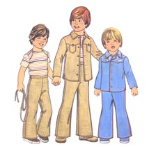 1970s Vintage Simplicity Sewing Pattern 7411 Childs Boys Top Shirt Pants 2 - $6.95