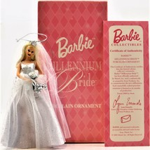 Barbie Millennium Bride Porcelain Ornament 2000 Avon Mattel - $19.79