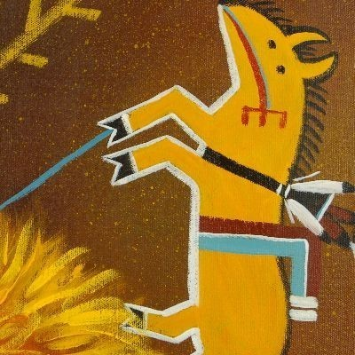 Yei Sandpainter Navajo Painting Limited Edition Giclee Print by JC Black