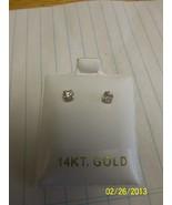New Girl Earings, 3mm stud, 14K - $20.00