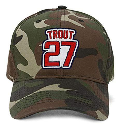 Mike Trout Hat - Los Angeles Baseball Adjustable Cap (Camo)