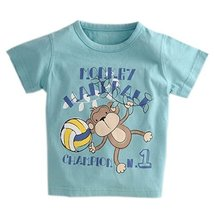 Monkey Pure Cotton Infant Tee Baby Toddler T-Shirt TEAL 90 CM (12-18M)