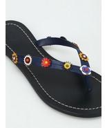 Tory Burch Marguerite Terra Flat Thongs Sandals Flip Flops 7.5 Flower Shoes - $125.00