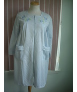 Jolie Light Blue Zip Up Quilted Robe Size Medium - $12.99