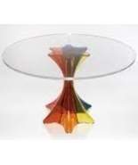 Tempered Glass table tops, round with rounded edge 19 3/4  inches X 3/16... - $32.95
