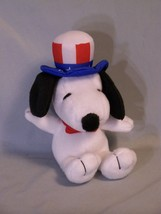 Metlife Peanuts Snoopy Uncle Sam Plush Stuffed Figure Doll Soft Toy appr... - $11.72