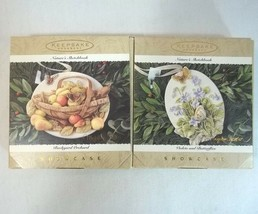 Hallmark Keepsake Ornament Natures Sketchbook Lot of 2 Showcase 1995 - $9.87