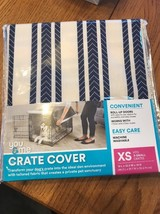 You & Me Striped Dog Crate Cover, XS FITS 19L x 12.5W x 14H Ships N 24h - $29.08