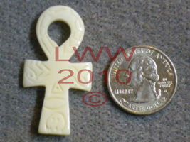 NEW Bone Ankh Talisman Necklace Pendant Charm New - $1.50