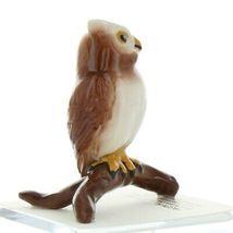 Hagen Renaker Miniature Bird Owl on Branch Ceramic Figurine image 6
