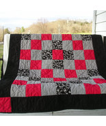 Custom Memory Quilt -- Lap Size Quilt Made with Upcycled Clothing - $195.00