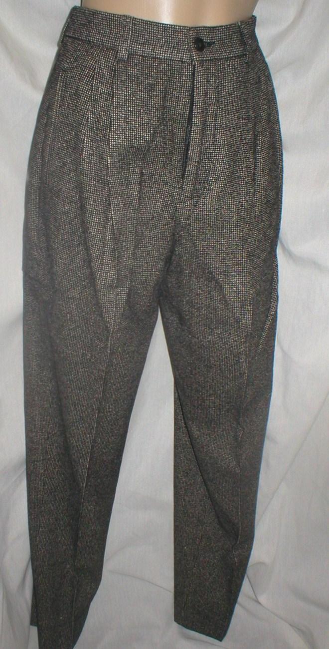 Banana Republic Black & White print wool blend career pants 2