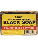Taha 100% Natural African Black Soap with Frankincense & Myrrh 5oz - $6.88