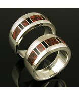 Dinosaur Bone His and Hers Wedding Ring Set by ... - $795.00