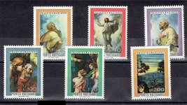1976 Transfiguration Set of 6 Vatican Postage Stamps Catalog Number 595-600 MNH