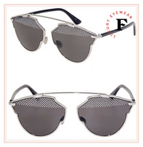 Christian Dior So Real Palladium Black Stud Sunglasses Diorsoreals Authentic - $435.60