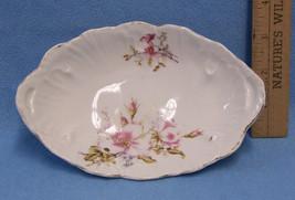 Vintage Dish Bowl Munich Germany Pink Flower Floral Gold Trim Trinket Dr... - $9.89