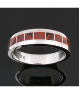 Dinosaur bone man's ring in sterling silver - $360.00