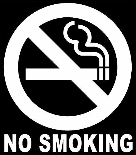 "Primary image for Mini 2"" NO Smoking Circle Sign Vinyl Decal Sticker White Tktoyou"