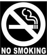 """Mini 2"""" NO Smoking Circle Sign Vinyl Decal Sticker White Tktoyou - $11.88"""