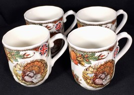 4 Queen's Harvest Bounty Mugs China Made in England Original Stickers NEW - $37.13