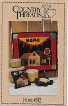 "Folk Art Wool Wall Quilt Pattern-COUNTRY THREADS-Home #542-14"" x 16"" - $8.56"