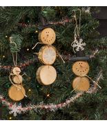 Christmas Tree Wreath Baby Slice Snowman Ornament 6/Set  - $29.99