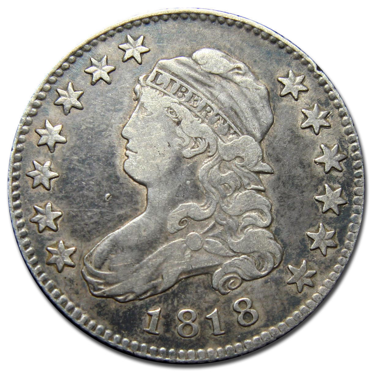 1818 Capped Bust Quarter Dollar 25¢ Coin Lot# MZ 2840