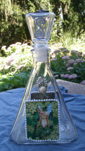 Vintage Glass Decanter w/Fairy Pictures,faux pearls,sets -fantasy,clear,... - €14,40 EUR