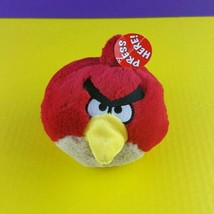 "Angry Birds Red Plush 5"" 2010 Commonwealth Stuffed Animal With Sound - $18.81"