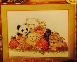 Endangered Species Collage Cross Stitch Kit Panda Ape Counted Fraser Col... - $14.84