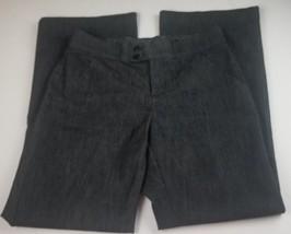 Lee Womens Pants Sz 4 Petite No Gap Waistband Gray Dress Slacks Career - $0.99