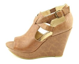 American Rag Remi Womens Cognac Brown Open Toe Wedge Fashion Sandals - $44.54