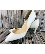 Charles by Charles David White Leather Pointed Toe Pumps Slim Heel 10 M ... - $49.49