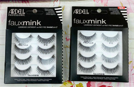 8 Pairs Ardell Faux Mink Eyelashes 812 Black Strip Lashes Lot Of 2 Boxes 4 Each - $15.17